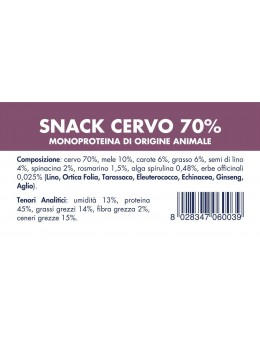 VENISON SNACK (10 pieces x...