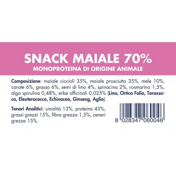SNACK MAIALE (10 Pezzi x 80g)